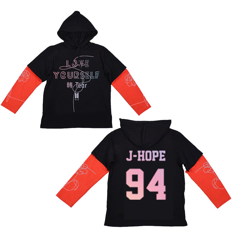 0  Kpop BTS autumn winter Harajuku women hoodies korean EXO cotton  pullovers GOT7 loose warm hooded sweatshirts Fake two pieces -in Hoodies    Sweatshirts ... 15b11eca0678