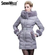 Fashion high quality 2016 rex rabbit hair female medium-long down coat thickening of luxury