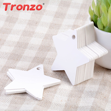 50pcs / lot DIY Kraft Paper Tag Star Hang Tag Wedding Decoration Paper Cards Gift Bag Wrapping Supplies