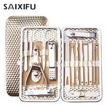16 in 1 Nail Clipper Kit Professional Care Set Pedicure Scissor Tweezer Ear Pick Manicure Trimmer beauty tools.BT66