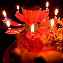 Free Shipping 2pcs Romantic Singing Birthday Candle Flowering Music Candles Musical