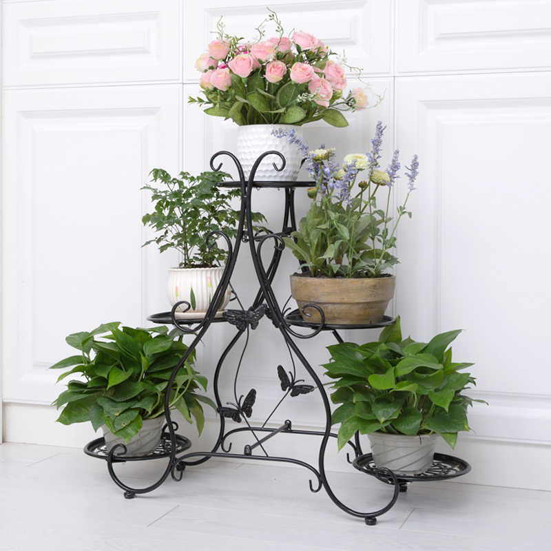 Classic Plant Stand Metal Flower Herbs Holder Garden Patio Shelves For Plant Flower Pot Rack Display Stand Indoor And Outdoor Plant Shelves Aliexpress