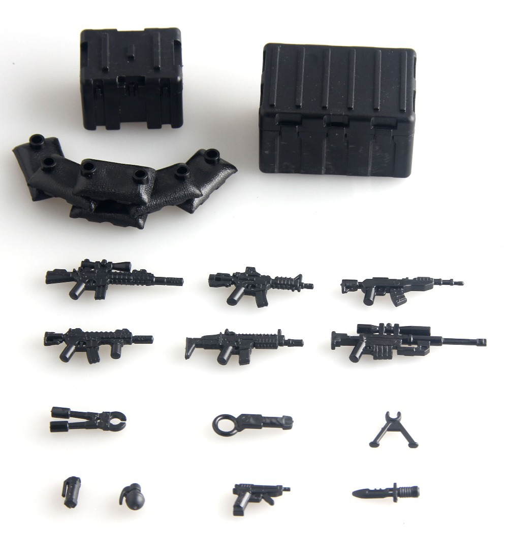 2017 Military swat police TOOL weapons packs army weapons Bricks Arms For City Police Childrens toys gift Compatible With Lego 6pcs swat military army riot police officer special weapons minifigures building blocks bricks kid baby boy toys