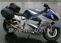 Free Shipping GSXR1300 96 03 For Suzuki GSXR 1300 Hayabusa 1996 2007 Blue And Silver Gray