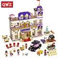 Qwz 1585 unids series amigos heartlake grand hotel building blocks classic para la muchacha niños modelo juguetes educativos montados regalos