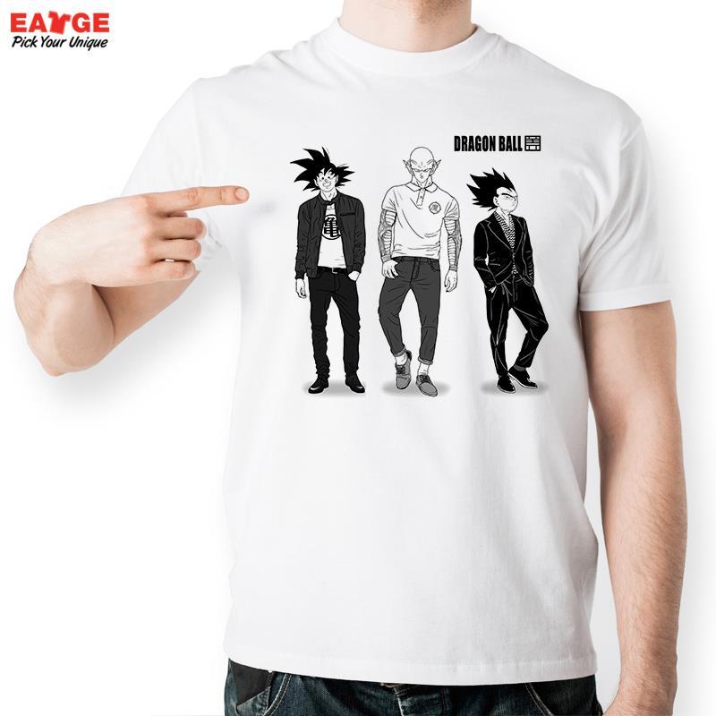 Moda modelo de Dragon Ball carácter diseño divertido anime camiseta unisex  camiseta fresca de la novedad pop camiseta 33d8592198d