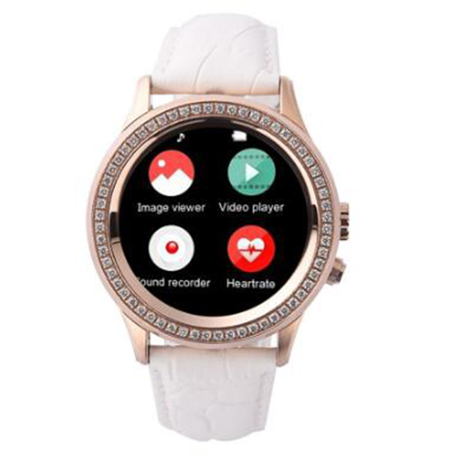 best Diamond Smart Watch GIFT for Girl friend with Heart Rate Monitor  Waterproof Bluetooth Camera Smartwatch for IOS  Android 06437bb20a