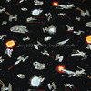 140X100cm Star Wars Space Vehicles Black Cotton Fabric For Baby Boy Clothes Bedding Set Cushion Cover