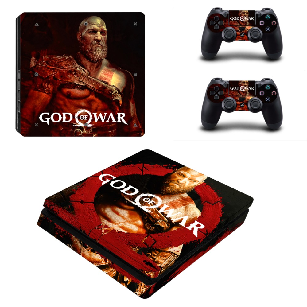 Game God of War PS4 Slim Skin Sticker For Sony PlayStation 4 Console and Controller Decal PS4 Slim Sticker Vinyl image