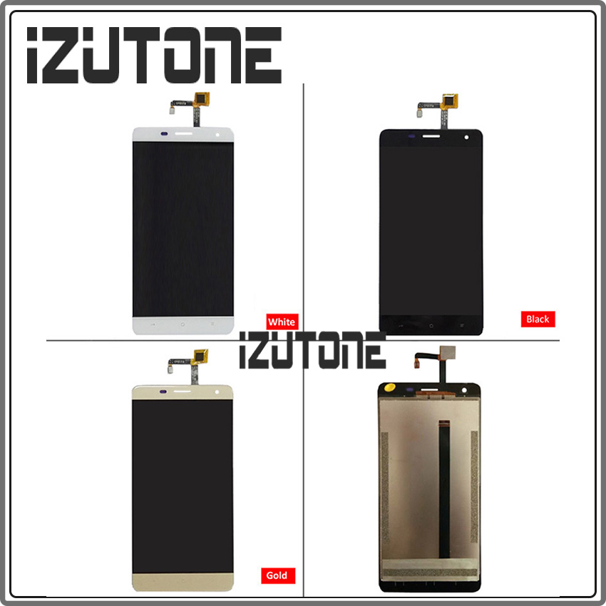 100% warranty Black/White/Gold LCD Display + Touch Screen Digitizer LCD Screen Glass Panel For Oukitel K6000 PRO free shipping