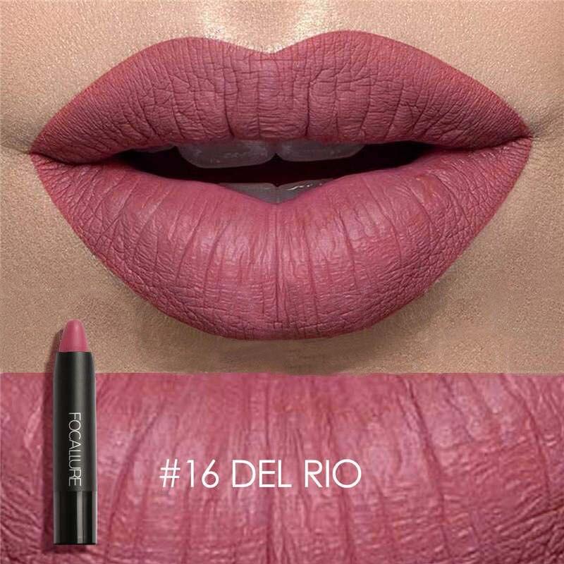 Hot Focallure Women Matte Lipstick Pen Waterproof Long-lasting Cosmetic Nude Lady Lips Makeup Lipsticks SJ66