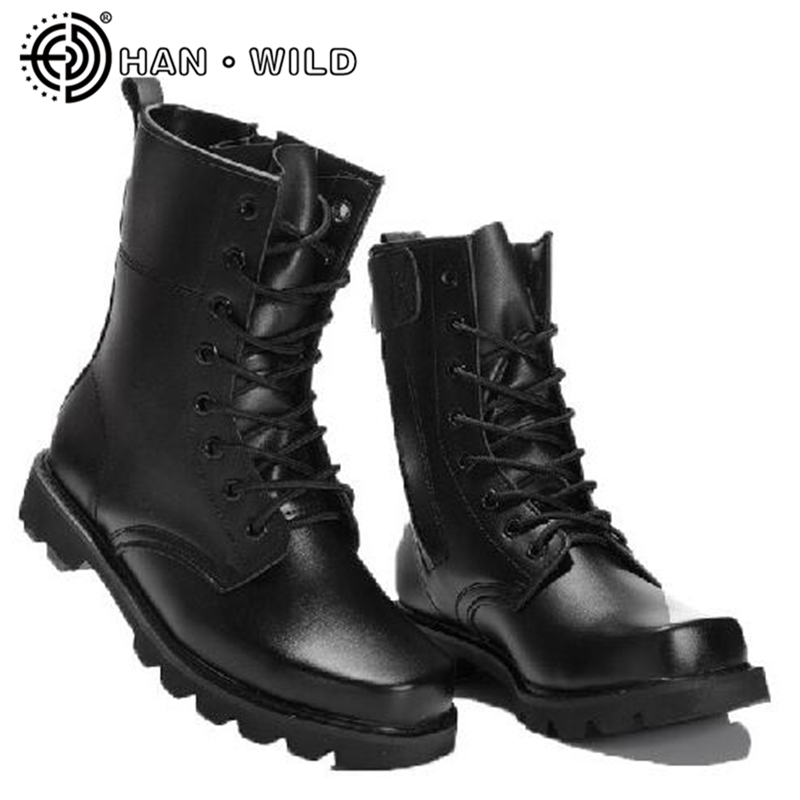 Classic Martin Boots Men Steel Toe Army Boots Genuine Leather Man Work Shoes Policemen Combat Boots Tactical Military Shoes