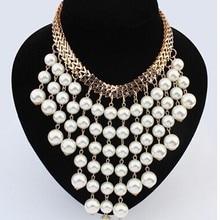 Модные бусы Золото чокер воротник ожерелье для женщин новые свадебные аксессуары ожерелья с искусственным жемчугом массивные ювелирные изделия