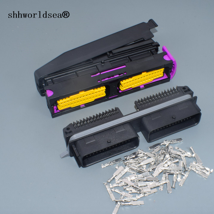 Shhworldsea 1/2/5/10/30sets 56 Pin Female Male Plug ECU Connector With Shell And Pins 211PC562S8009 211PC562S0008