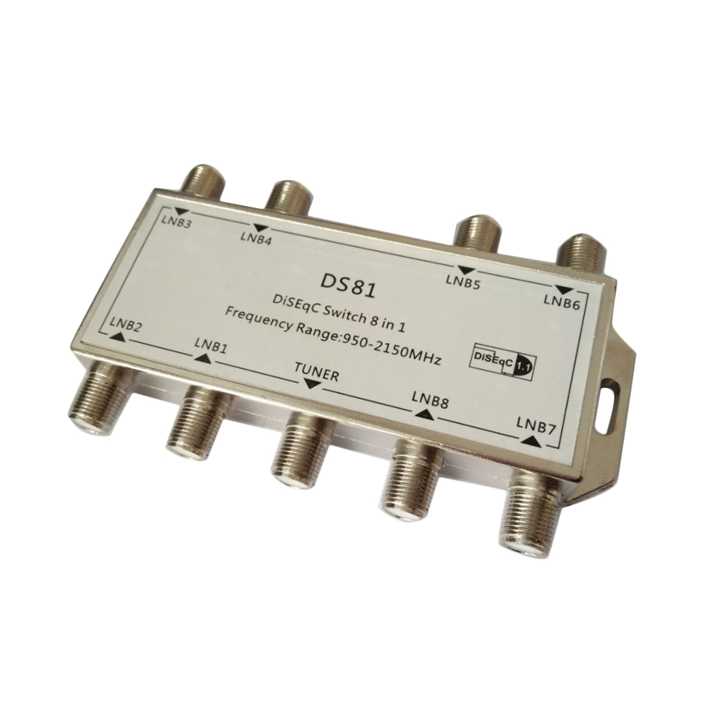 GST 8101 8 in 1 Satellite Signal DiSEqC Switch LNB Receiver Multiswitch Wholesale