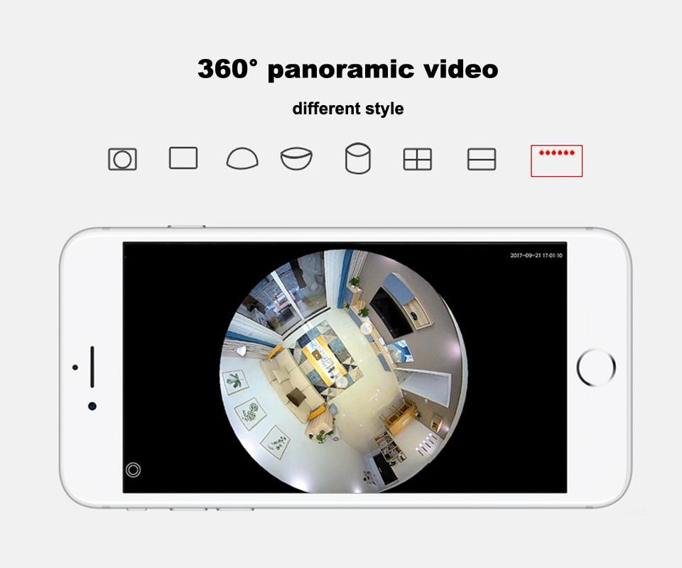Smart Speraker with VR Camera Wireless Panoramic 360 Wifi 960P IP Camera BT  Bulb Home Security Camera