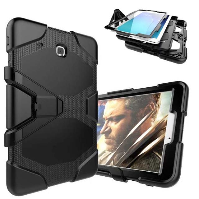 "Caneta + criança placa de choque capa Para Samsung tab 9.6 ""case heavy duty híbrido magro armadura case para samsung galaxy tabe 9.6 t560 t561"