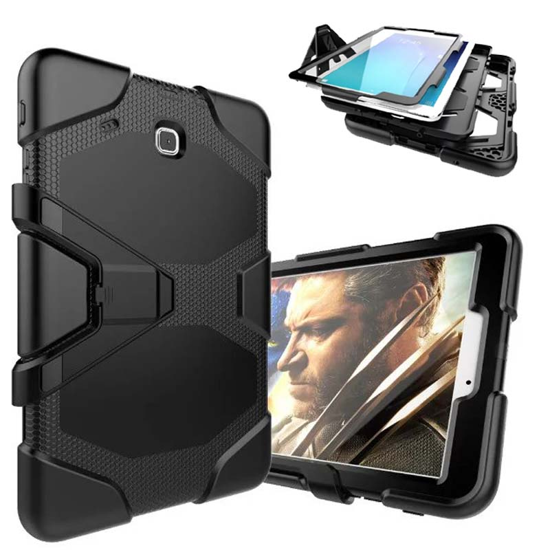pen+ child plate shock cover For Samsung tab e 9.6 case Hybrid Heavy Duty Slim Armor Case For Samsung Galaxy TabE 9.6 T560 T561 tire style tough rugged dual layer hybrid hard kickstand duty armor case for samsung galaxy tab a 10 1 2016 t580 tablet cover