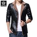 Homens jaqueta de couro da moda cashmere lining urbanfind homem magro casacos de inverno roupas tamanho grande m-4xl boa qualidade preto/marrom