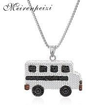 2019 new cute fashion bus charm bracelet necklace metal jewelry copper silver pendant boutique