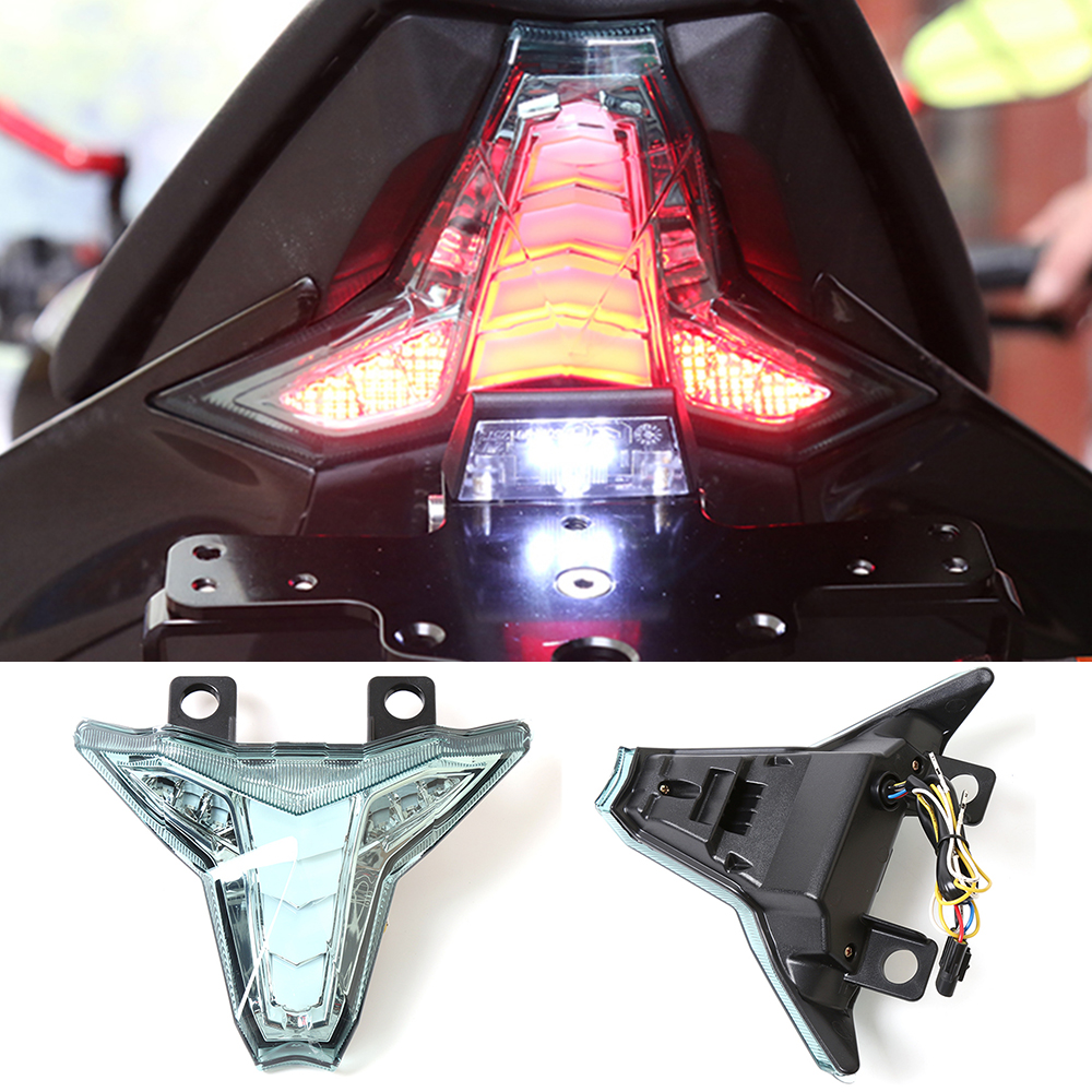 LED Motorcycle Tail Lights Rear Brake Taillight Stop Light Turn Signal Indicator Integrated For Kawasaki Z1000 Z 1000 2014-2016 12v 3 pins adjustable frequency led flasher relay motorcycle turn signal indicator motorbike fix blinker indicator p34