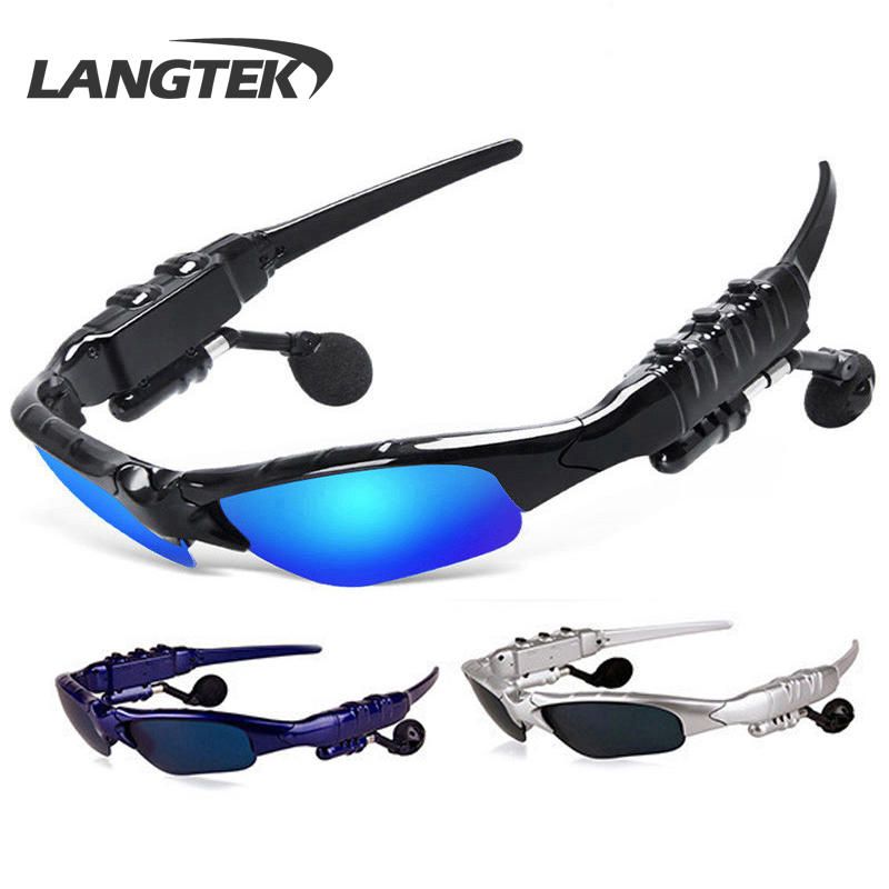 Sports Stereo Wireless Outdoor mic Headphones Sunglasses Polarizer for Samsung xiaomi Android
