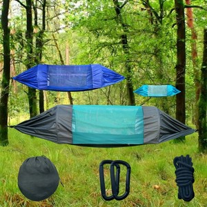 Image 1 - 275*145 Cm High Quality 2 Person  Camping  Mosquito Net Parachute Hammock  Hot Waterproof  Outdoor Home Swing Hammock
