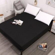 Однотонная простыня на резинке, белая Водонепроницаемая простыня на кровать, матрацы, простыни на кровать, простыни на кровать королевского размера, Комплект постельного белья, горячее предложение