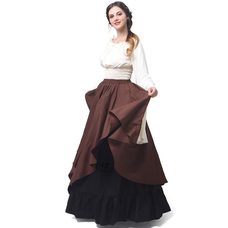 Rolecos Gothic Lolita Chiffon Dresses Wanita Renaissance Dresses - Kostum karnival - Foto 2