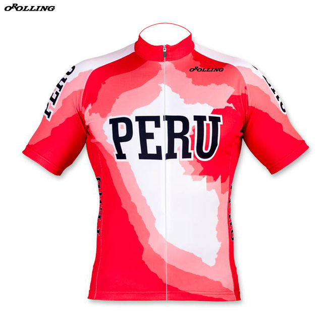 262bf6e4502 New 2018 PERU Team Cycling Jersey Customized Road Mountain Race Top  Classical OROLLING