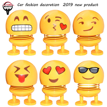 car accessories car decoration expression creative cute doll shaking head decoration gift jewelry spring shaking head doll premium new funny spring man emoji emotion face expression figure shaking head doll for children toys gifts car decor supplies