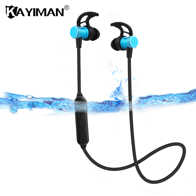 Waterproof Bluetooth Earphone wireless headphones sports bass bluetooth headset with mic for phone xiaomi KAYIMAN