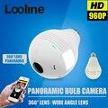 1.3mp 360 grados wifi cámara cámara ip inalámbrica wi-fi bombilla lámpara panorámica de ojo de pez cámara de seguridad de vigilancia motion detección