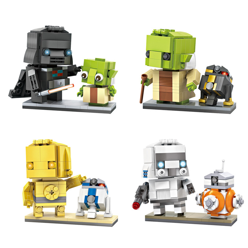 4pcs/lot New Arrivals Star Wars Mech Figures Model Toys LOZ Mini Building Blocks Children Educational Gifts DIY Assembled Toys military star wars spaceship aircraft carrier helicopter tank war diy building blocks sets educational kids toys gifts legolieds