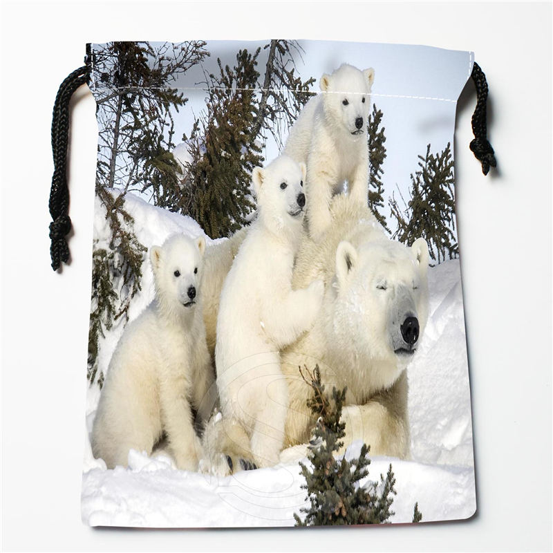 Q 57 New Cute Brown Bear Custom Logo Printed receive bag Bag Compression Type drawstring bags
