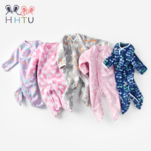 HHTU Baby Rompers for Newborn Boys Girls Winter Autumn Warm Fleece Clothing Cartoon Infant Clothes Jumpsuit Pajamas