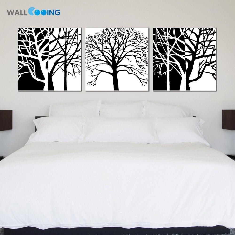 wohnzimmer wand poster : 3 Panel Moderne Kunst Zweige Leinwand Malerei Wohnzimmer Wand