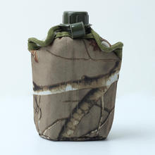 Hot 860ml Water Bottles Camouflage Cloth Army Green Plastic Sports Wat