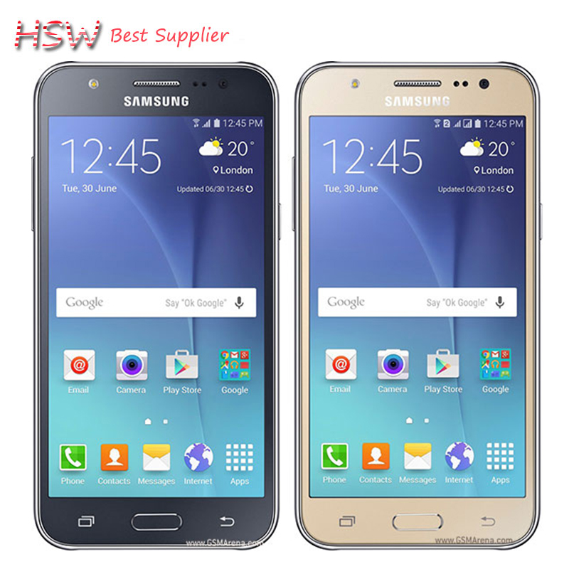 100 Original Samsung galaxy J5 Dual Sim Unlocked Cell Phone Quad core FDD LTE 2GB RAM