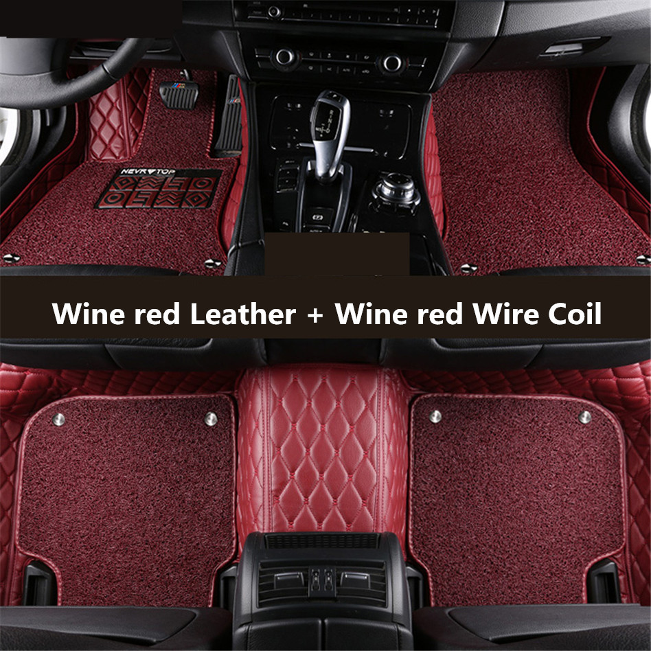 Auto Floor Mats For Peugeot 408 2016.2017.2018 Foot Carpets Step Mat High Quality New Embroidery Leather Wire coil 2 LayerAuto Floor Mats For Peugeot 408 2016.2017.2018 Foot Carpets Step Mat High Quality New Embroidery Leather Wire coil 2 Layer