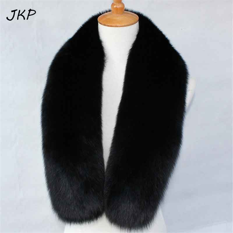 JKP 2018 new 100 genuine fox fur shawl imported fox fur scarf collar original color wool