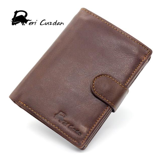 5125d0a19d US $26.29  DERI CUZDAN RFID Wallet Men Wallets Male Purse Genuine Leather  Coin Pocket Card Holder Anti rfid Vallet Three Photo Holder Visit-in  Wallets ...