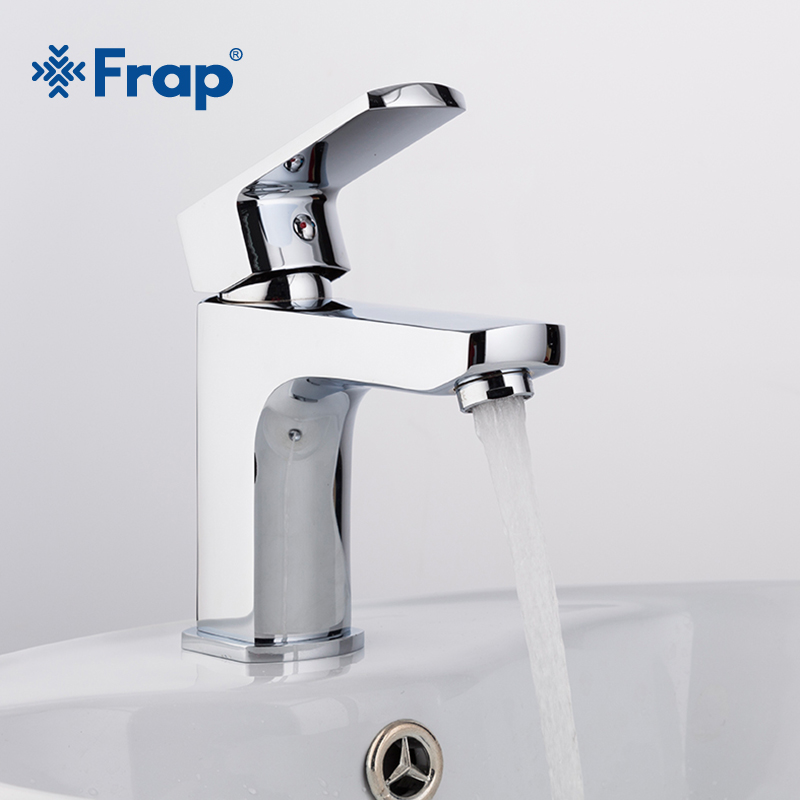 Frap New 1 Set Brass Body Bathroom Basin Faucet Vessel Bath Sink Water Tap Cold And Hot Mixer Chrome Finish Torneria