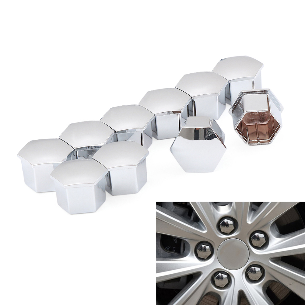 17mm Chrome Stainless Steel Wheel Nut Covers fits PEUGEOT 3008