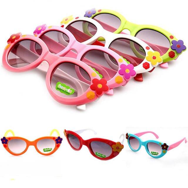 e449d38d7b77 Kids Sunglasses Girl Boys Sun Glasses Children Resin Glasses Cute Design  Fashion UV400 Flower Sunglasses Cheap Summer 105