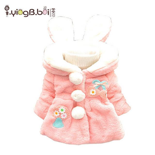 Inverno quente Crianças bonitos dos desenhos animados impressão de Algodão Grosso Casacos Com Capuz Meninas roupas de estilo fashion