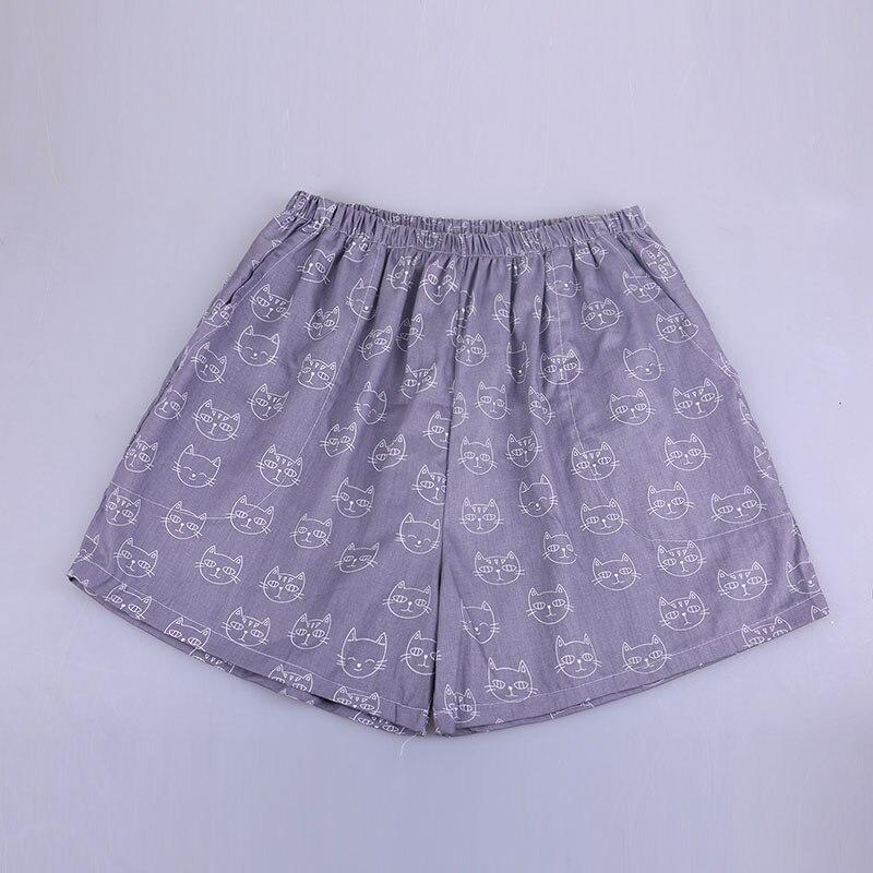 UNIKIWI. Милые летние хлопковые Пижамные шорты для сна, женские свободные пижамные штаны с эластичной резинкой на талии размера плюс M-XL отдыха. 21 цвет - Цвет: 018