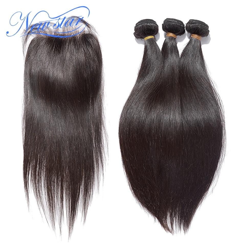 New Star Hair Brazilian Virgin Straight Hair With Lace