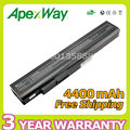 Apexway 6 celdas 10.8 v 4400 mah batería del ordenador portátil para a32-a15-a15 a41 a42-a15 a42-h36 a6400 para medion akoya p6631 e6201 p7818