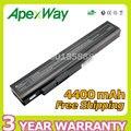 Apexway 6 cell 10.8 v 4400 mah da bateria do portátil para a41-a15 a42-a15 a32-a15 a6400 a42-h36 para medion akoya e6201 p6631 p7818